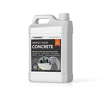 ToughCrete Concrete Sealer - 1 Gallon (Covers 600SqFt) - The #1 Sealant for Driveways, Garage Floors, Sidewalks, Patios, and Other Cocrete Surfaces