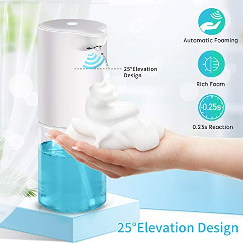 Automatic Foaming Soap Dispenser Touchless Hand Sanitizer, Touch Free Liquid Soap Dispenser for Barthroom, Kitchen, Hotel, Restaurant