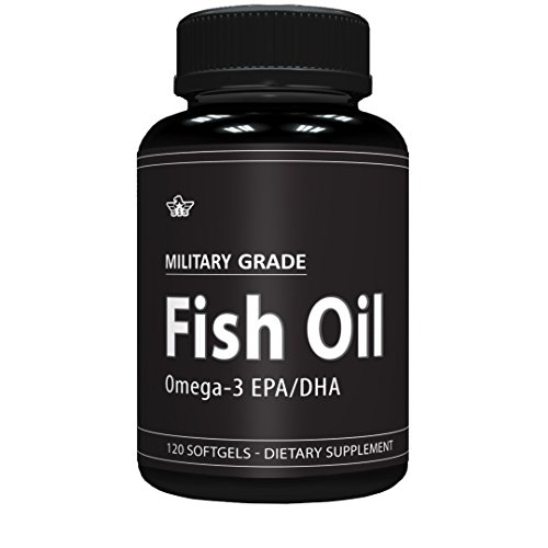 Military Grade Omega 3 Fish Oil - General Health Supplement - 1,000 mg of Fish Oil per Serving (120 Softgels) from Standard Issue Supplements