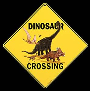 Amazon Com Dinosaur Crossing 12 Quot X 12 Quot Aluminum Sign