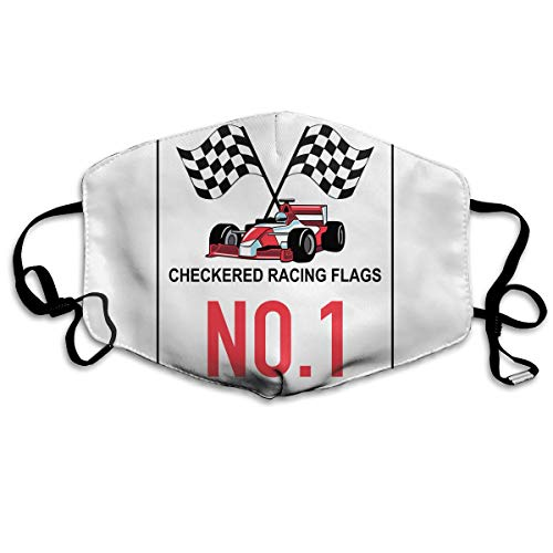 SDQQ6 Finish Line Checkered Flag Racing Motorcycle Mouth Mask Unisex Printed Fashion Face Mask Anti-dust Masks ()