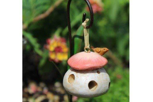 (Miniature Fairy Garden Mushroom Birdfeeder)