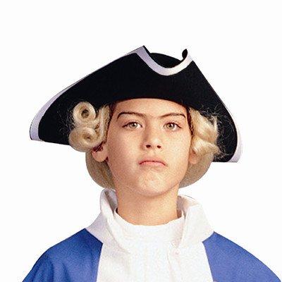 Child Poplin Colonial Hat (Black)