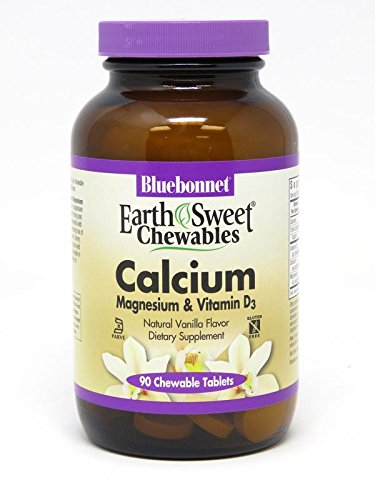 Bluebonnet Nutrition Earthsweet Chewables Calcium Magnesium & Vitamin D3 (Vanilla), 90 Count