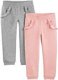 Toddler Girls 2-Pack Pull on Fleece Pants