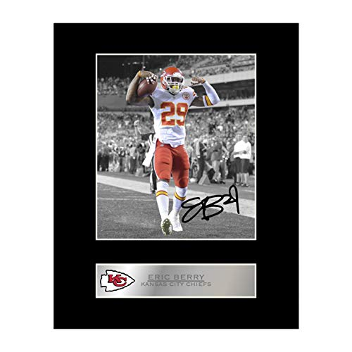 iconic pic Eric Berry Signed Mounted Photo Display Kansas City Chiefs #2 Autographed Gift Picture Print