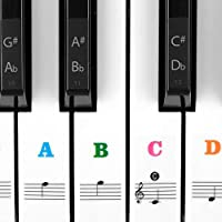 Piano Stickers For Keys 49/61/76/88 Full Set Keyboards...