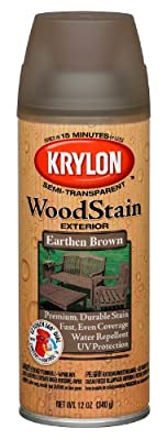 Krylon 3607 Wood Stain Earthen Brown Spray Stain 12 Ounce