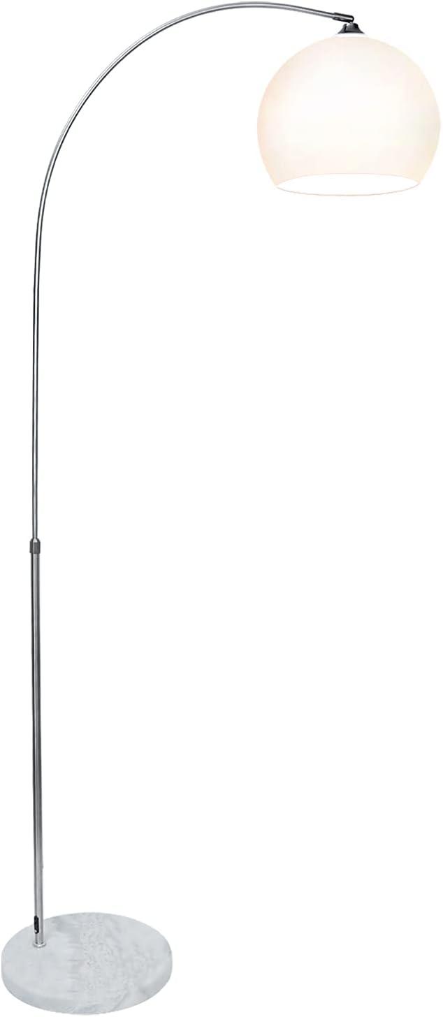 BMOT Stehlampe Bogenlampe Höhenverstellbar 130-180cm mit Standfestem Marmorfuß