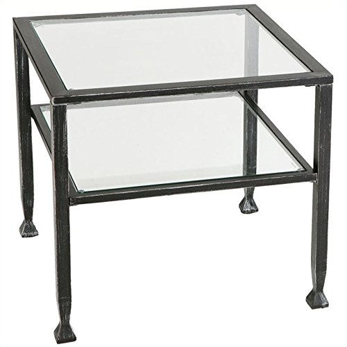 Holly and Martin Guthrie Metal Cocktail Table in Distressed Black