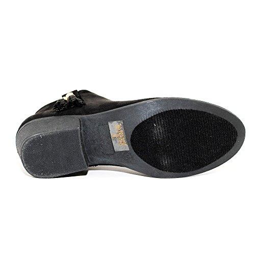 Inside Zipper Ankle Women's Booties Heel Black Stacked Western C7qZFZxwO