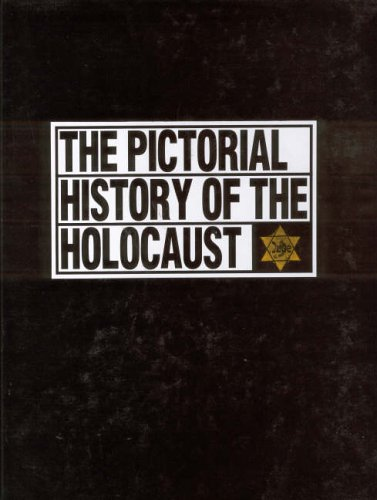 Photographs document the Holocaust, including the rise of Nazism, persecution of Jews in Germany, mass murders at the death camps, and Jewish armed resistance