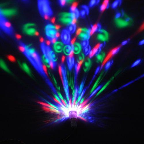 amzdeal® 2X E27 3W LED RGB Bombillas led giratoria, Foco discoteca, LAMPARA BOMBILLA LUZ EFECTO DISCOTECA LUCES DJ CON MOVIMIENTO, E27 RGB Lámparas bajo ...