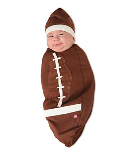 Cozy Cocoon - Baby Cocoon Swaddle & Matching Hat - Football - 0-3 months - Made in (Cozy Cocoon Baby)