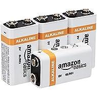 AmazonBasics 9 Volt Everyday Alkaline Battery - Pack of 4