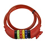 Fischer, cable number lock for children, Red, 60cm