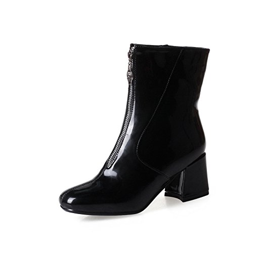 High Manmade Waterproof Dress Track Cushioning Womens Lining Top Leather Kitten Urethane Black amp;N Boots Boots Smooth Warm A Heel DKU01836 xqgptw