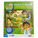 : Playskool Go Diego Go! 2 Foot By 3 Foot Floor Puzzle - English & Spanish Learning 48 Piece Puzzle