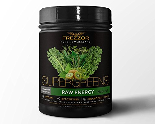 Frezzor | Detoxifying Super Greens | Raw Energy | 30 Servings by FREZZOR