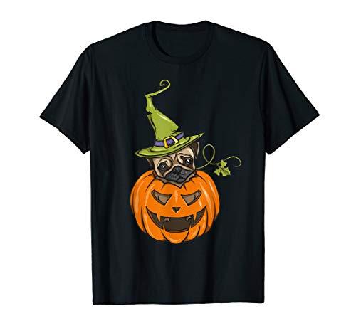 Pug Pumpkin Halloween Costume for Dog Lover T-Shirt