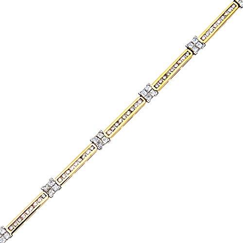 Revoni Bague en or jaune 9carats Diamant Bracelet