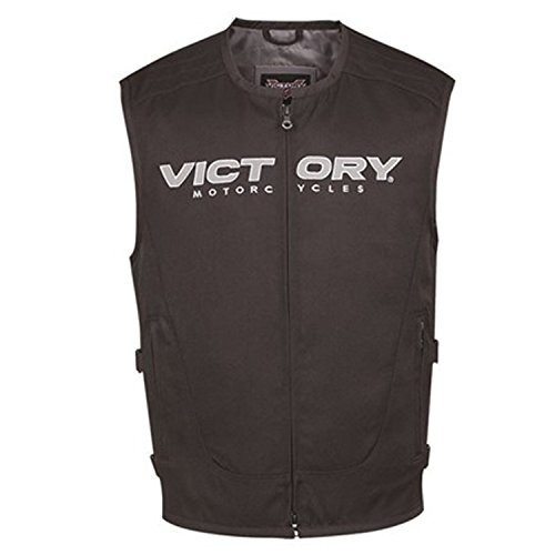 Victory Motorcycle Men's Tactical Vest Black- Large by Victory Motorcycle