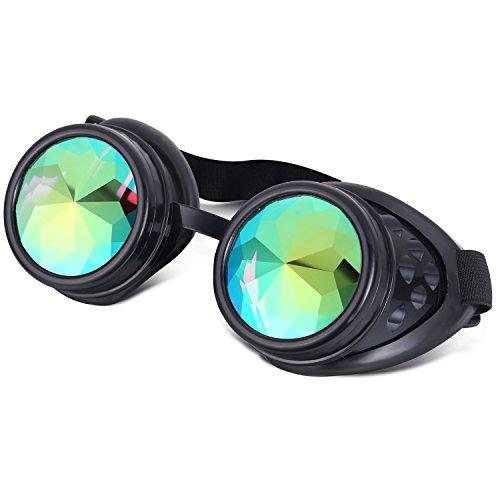 ilandle Welding Glasses Goggles Steampunk Cosplay Lenses with Adjustable Elastic - Kaleidoscope Glasses Amazon