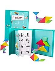 لعبة ألغاز خشبية مونتيسوري تانغرام من تويفيان، أحجية على شكل سفر، لعبة مونتسوري، لعبة مداعبة الذهن للأطفال والبالغين