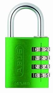 Abus 145/40_VERDE_C - Candado aluminio combinacion 40mm 4 dígitos verde blister