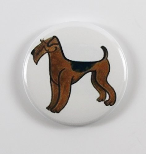 Airedale Terrier Pin Back Button