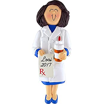 Amazon.com: Female Personalized Pharmacist Ornament Christmas or ...
