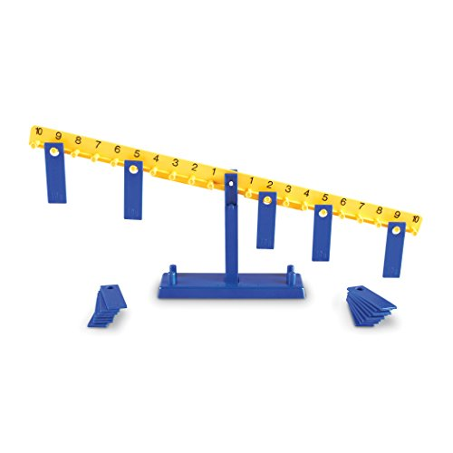Learning Resources LER0100 Math Balance with Weights (Pack of 21)