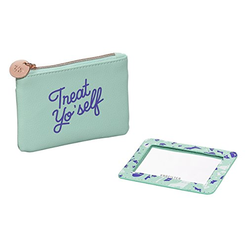 Yes Studio Treat Yo Self Faux Leather Coin Purse With Removeable Mirror (Treat Yo Self Tote)