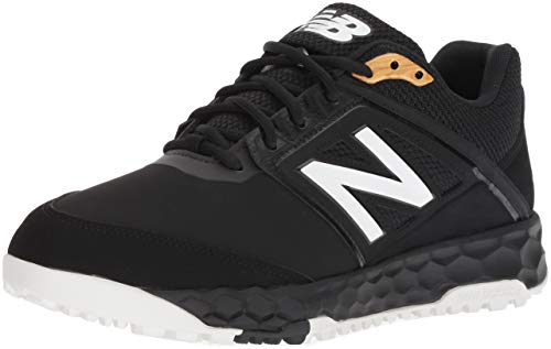 (New Balance Men's 3000v4 Turf Baseball Shoe, Black, 9.5 2E US)