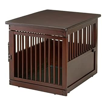 Ordinaire Richell Wooden End Table Crate, Medium, Dark Brown