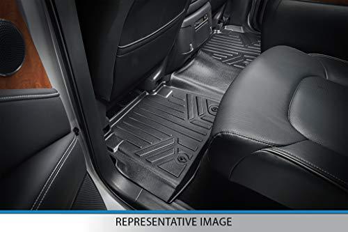 MAXLINER Floor Mats 2 Row Liner Set Black for 2016-2021 Jeep Grand Cherokee/Dodge Durango