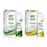 K-Y Natural Feeling Value Pack with Aloe Vera Lubricant Gel (1.69oz) & Botanical Essence Lubricant Gel (1.69oz) Water-Based Lubes & Massage Gels 1 ea
