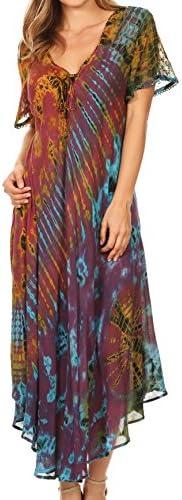 Sakkas Embroidered Sleeve Caftan Dress product image
