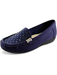 Womens Slip-on Loafers Flat Casual Driving Shoes