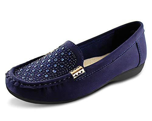 Jabasic Women Penny Moccasins Loafers Comfortable Slip On Driving Flats ()