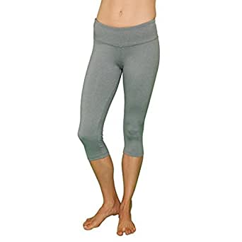 Capri Leggings Women's Yoga Workout Pants FABB Activewear Crop [On Sale Today!] (X-Small, Light Grey)