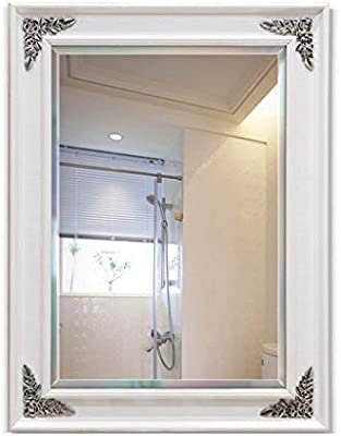Household Necessities Mirror Bathroom Mirror Home Bathroom Mirror Porch Mirror Living Room Bedroom Wall Mounted Vanity Mirror Color White Size 60 80cm Buy Online At Best Price In Uae Amazon Ae