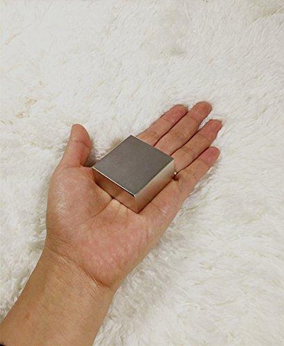 Sunkee Imán de tierras raras de neodimio, súper fuerte, en bloque N52, 40x40x20mm: Amazon.es: Amazon.es