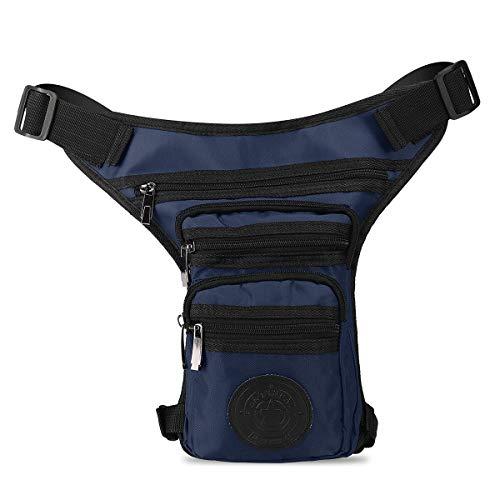 Cacys-Store - Men's Cloth Travel Motorcycle Waist Pack Leg Drop Bags Riding Belt Hip Bag Bum Fanny Pack Waist Thigh Bag Purse Pouch