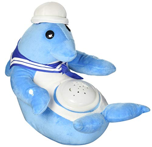 Dolphins Moon (Dolly Dolphin Nightlight Soother with Favorite Lullabies, Nature Sounds and Projecting Stars & Moon Light by Dimple)