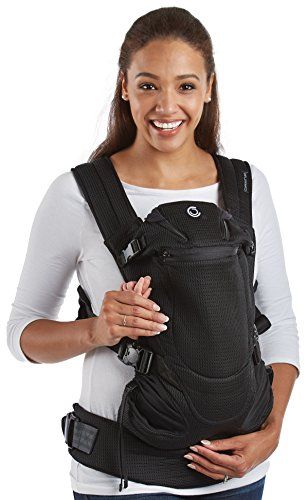 Contours Love 3-in-1 Baby & Child Carrier with 3 Seating Positions, Easy to Wear Front Buckles, Extra-wide Padded Shoulder Straps, Black by Contours