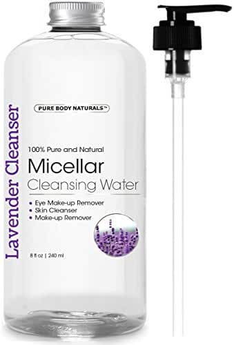 Micellar Cleansing Water - Cleanser and Makeup Remover for Eye and Face - 8 Fl. Oz.
