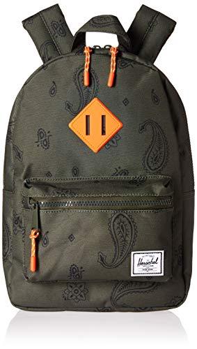 Herschel Heritage Kids Children's Backpack, Bandana Paisley/Vermillion Orange, One Size