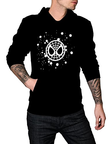 Mens SPIDER-MAN HOMECOMING LOGO WEB Hoodie | Black, M