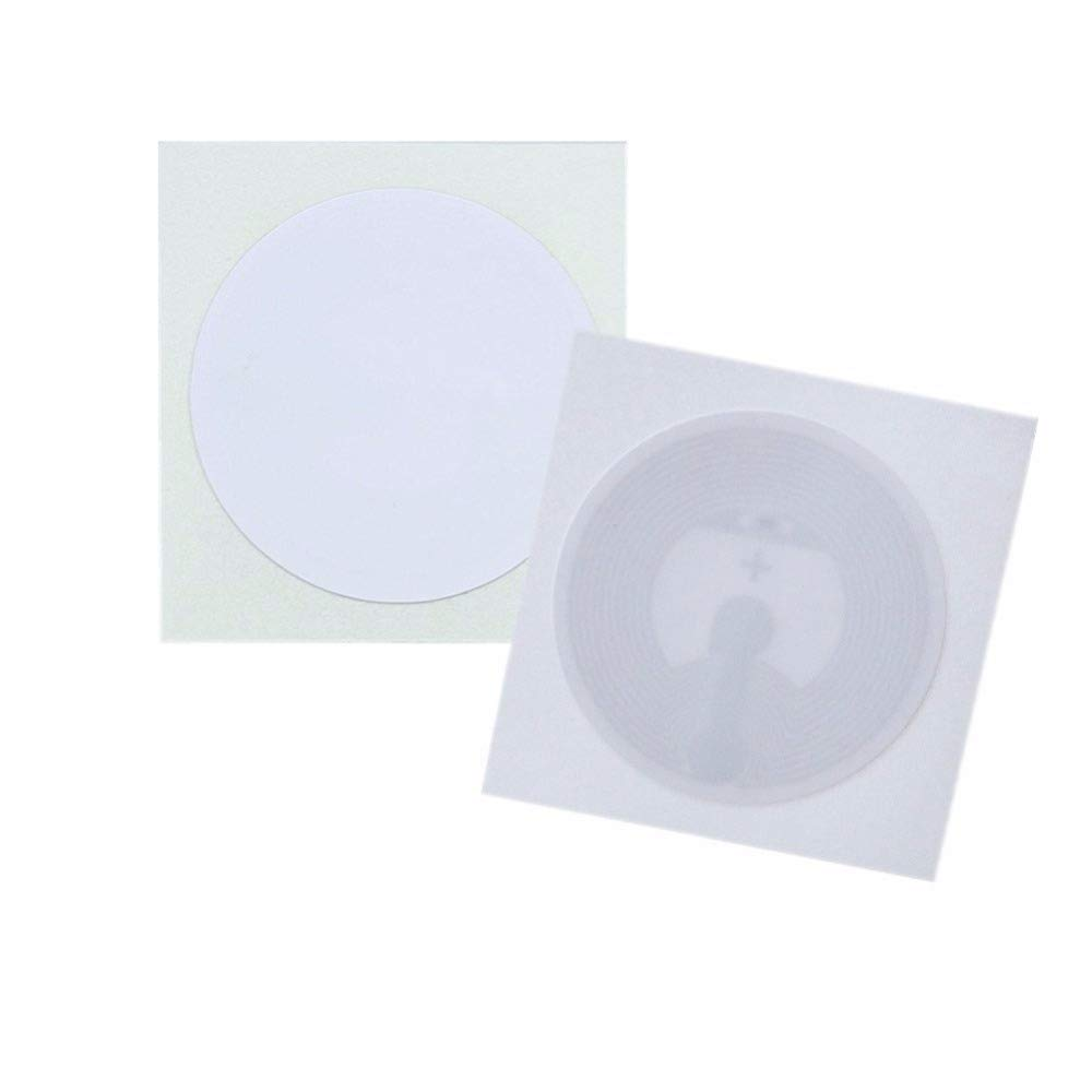 THONSEN 13 56MHz Diameter 25mm NTAG213 White NFC Stickers for Samsung TagMo  LG HTC Android Nokia Windows Sony all NFC-enabled Smartphones and Devices